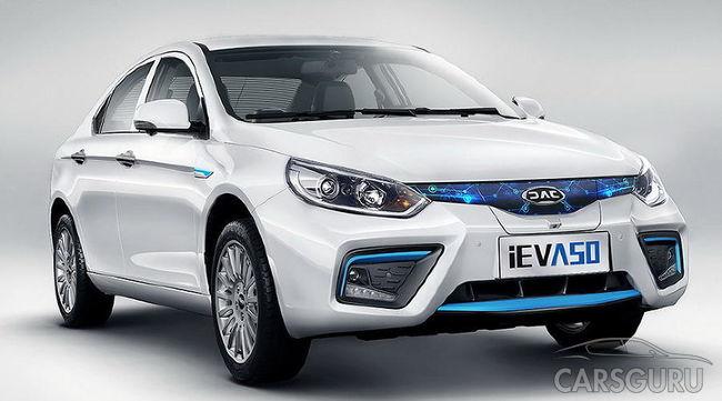 Новый электрокар JAC iEV A50 представят весной 2018 года