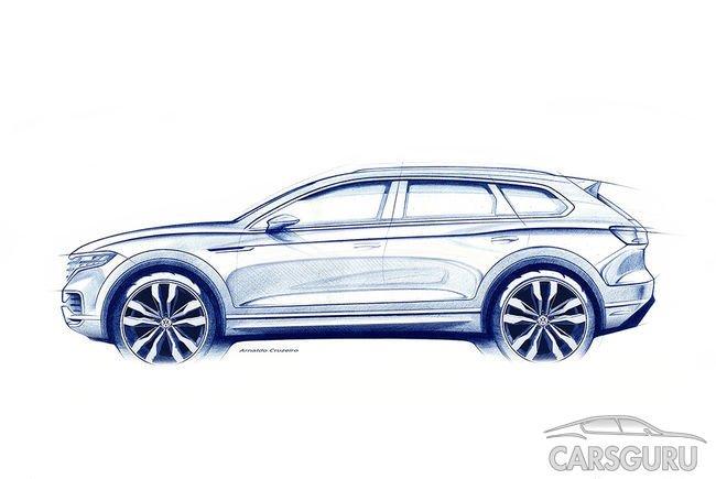 Уже 23 марта Volkswagen покажет свой Touareg третьего поколения
