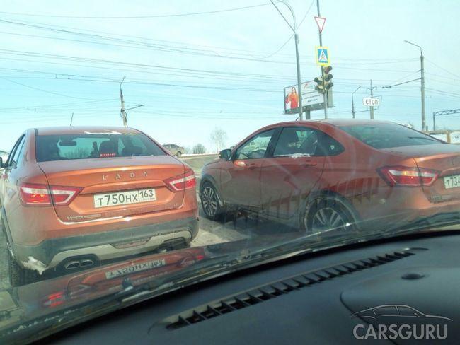 Кросс-седан Lada Vesta Cross без камуфляжа попала к фотошпионам