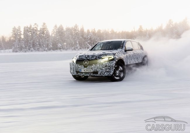 Mercedes-Benz в морозы испытал свой электрокар