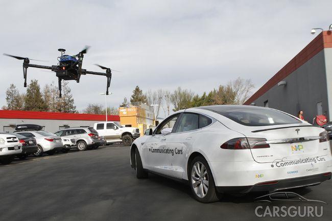 Чем могут дроны помочь автомобилям