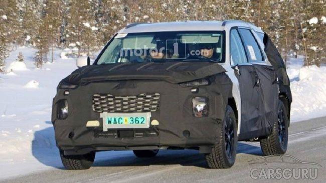 Новый внедорожник от Hyundai был замечен на тестах