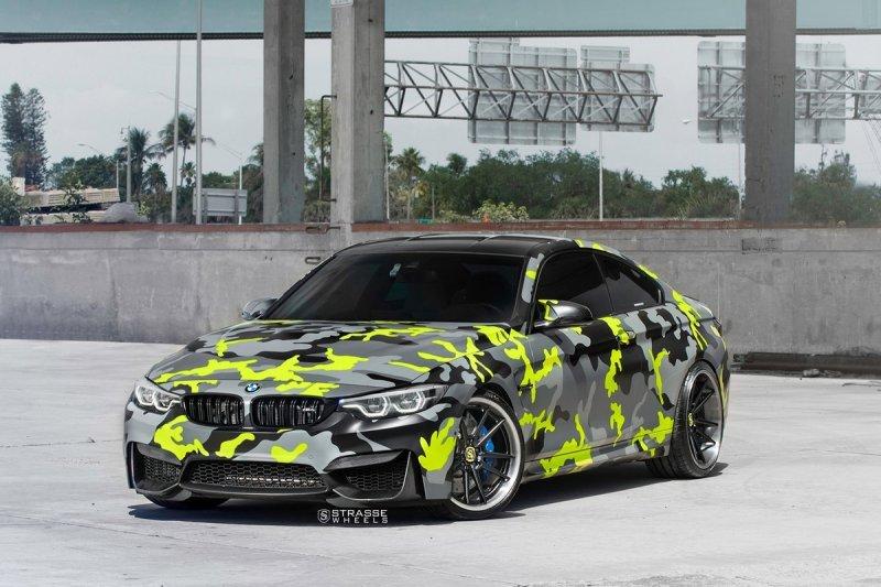 BMW M4 Coupe на дисках от Strasse Wheels